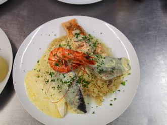 Fish and sour cabbage platter